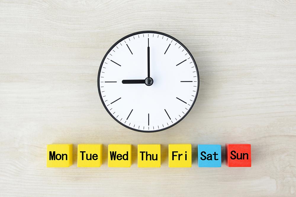 時計と曜日