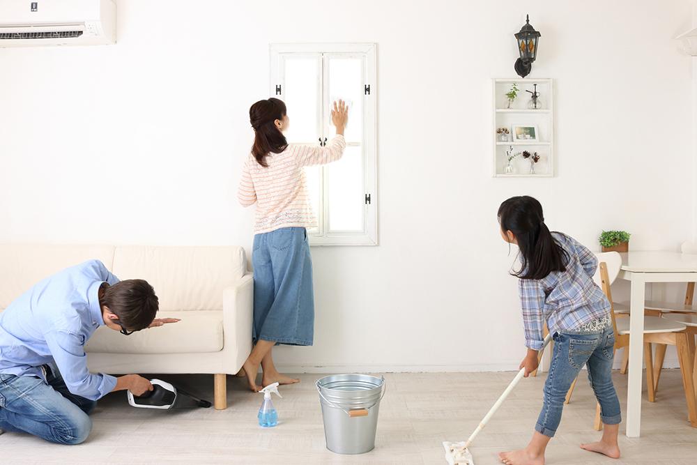 家族で大掃除
